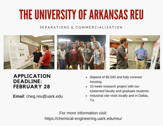 Separations & Commercialization REU | Chemical Engineering ...